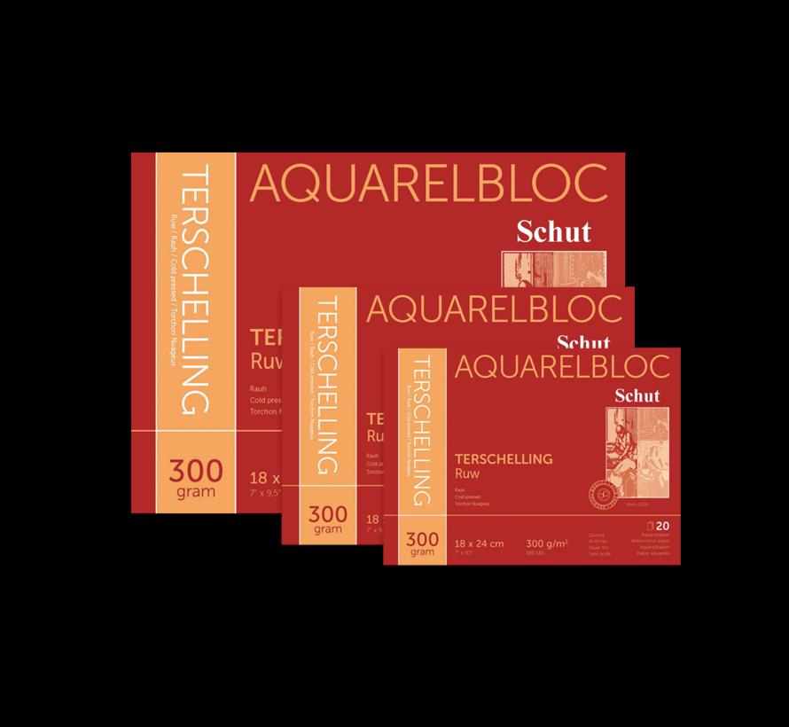 Terschelling Ruw aquarelblok 300gr 20 vellen