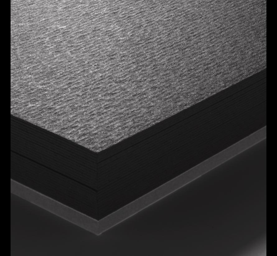 Aquarelblok zwart papier 360gr 12 vellen