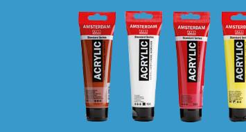 Ontvang 10% korting bij minimaal 5 tubes Amsterdam acrylverf!!