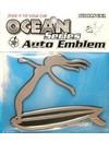 """3D Metalen Auto Embleem """"Hang 10 girl"""""""