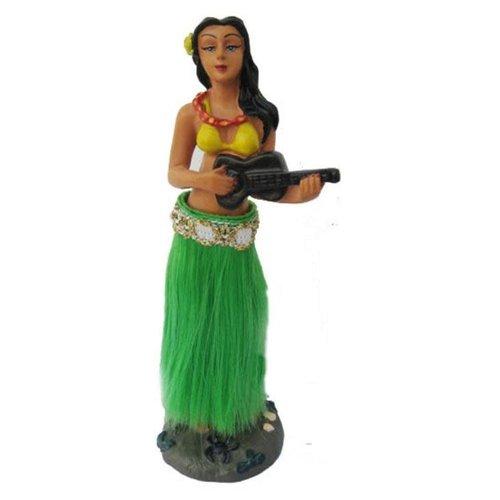 Aloha Surf Huismerk Dansend Hula  Dashboard Poppetje met  Groene Rok