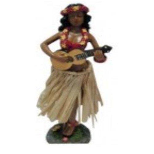 Aloha Surf Huismerk Dancing Hula Dashboard Doll with Straw Skirt
