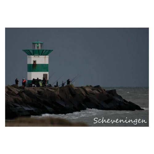 Ivooosterbaan Ivooosterbaan Scheveningen Harbor head Postcard
