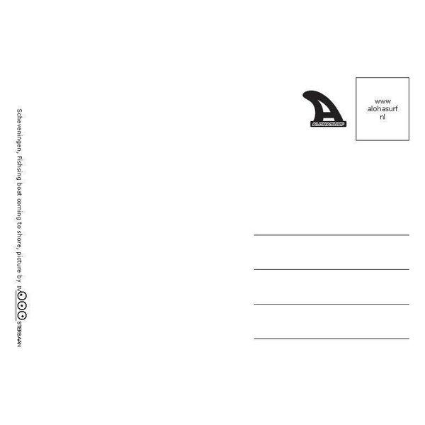 Ivo Oosterbaan Scheveningen Schip Postkaart