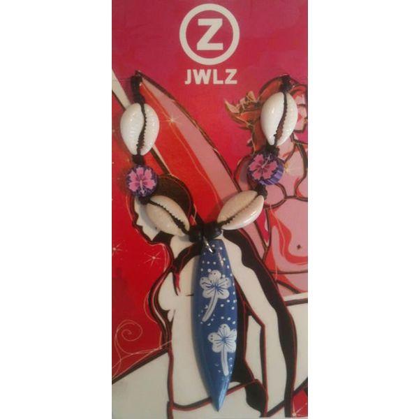JWLZ Surfboard Bloem Paars Ketting