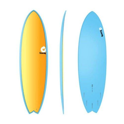 "Torq Torq Fish Full Fade Blue Yellow Orange 6'6"""