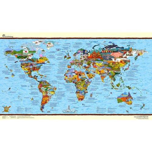 Awesome maps Wereldkaart Bucketlist Map Re-Writable