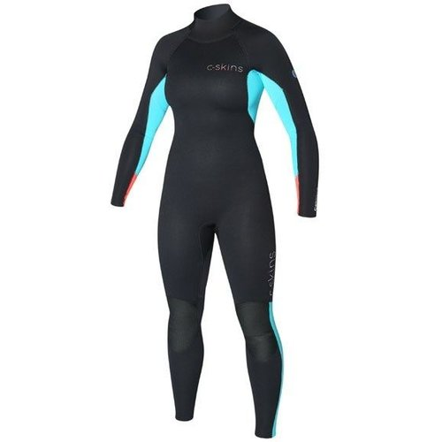 C-Skins C-Skins Surflite 3/2 Dames Zomer Wetsuit Zw/Aqua