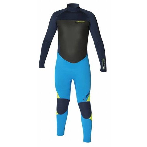 C-Skins C-Skins Surflite 5/4 Kinder Winter Wetsuit Cyan/Yellow