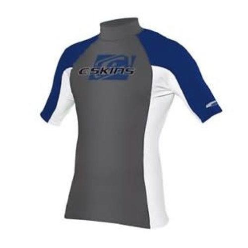 C-Skins C-Skins Heren Lycra Short Sleeve Grey/Blue