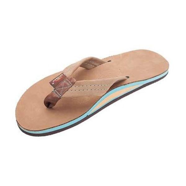 Rainbow Heren Premier Sierra Brown Blue Leather Sandals