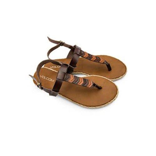 Volcom Volcom Dames Trails Brown Slippers