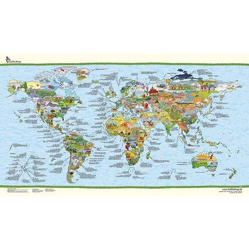 Awesome maps Wereldkaart Surftrip Map Re-Writable