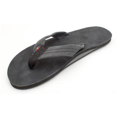 Rainbow Sandals Rainbow Heren Premier Leather Single Layer Black Sandals