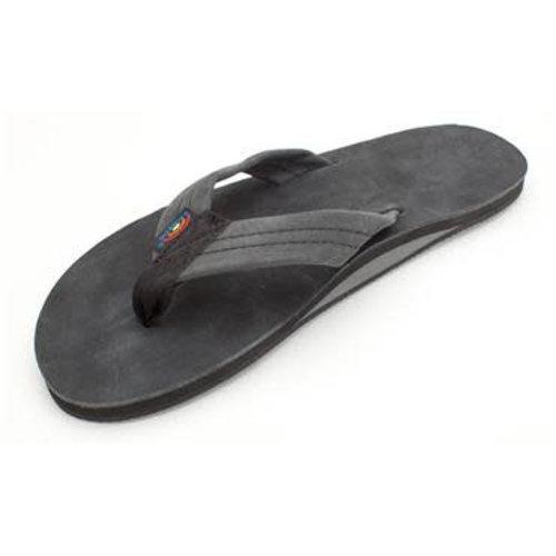 Rainbow Sandals Rainbow Men's Premier Leather Single Layer Black Sandals