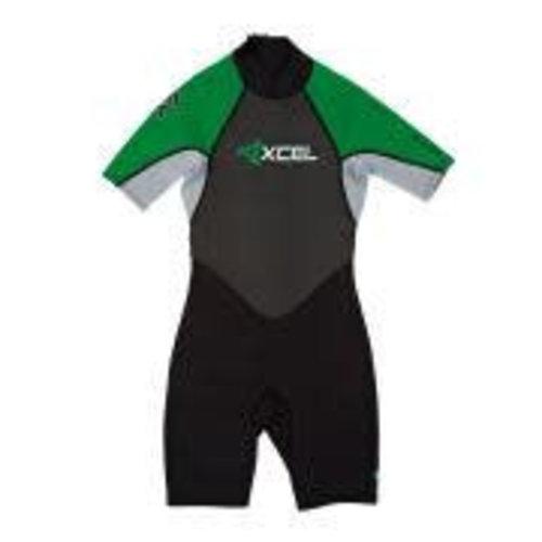 Xcel Xcel GCS 2mm Kinder Wetsuit Shorty Groen