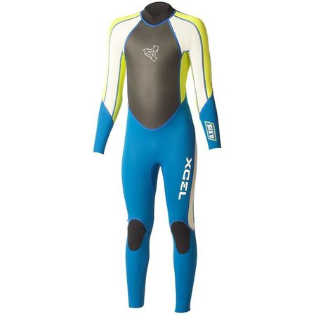 Xcel Xcel Axis 3/2 Kinder Zomer Blauw/Lime Wetsuit