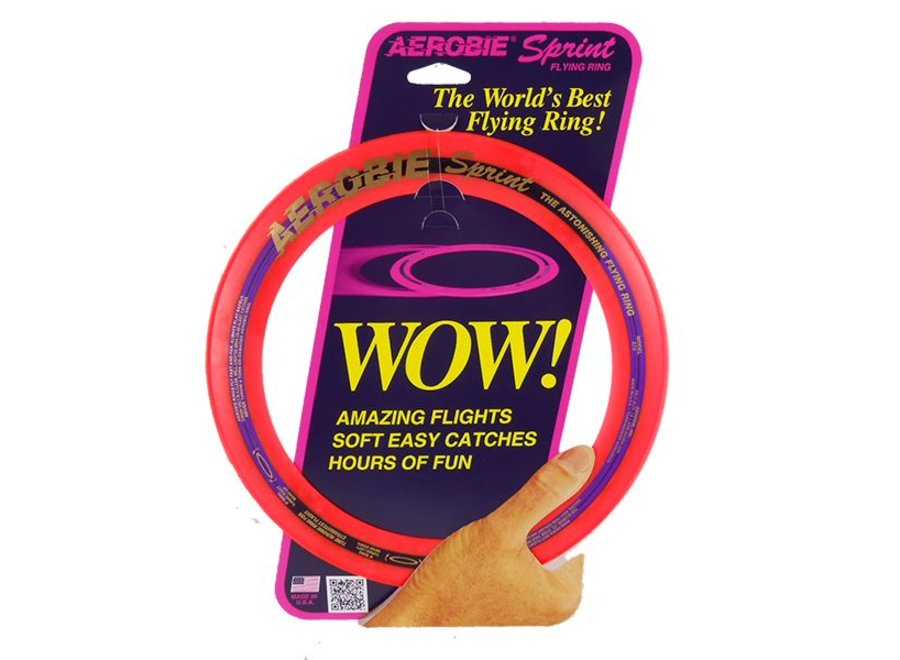 Aerobie Sprint Ring Frisbee Rood