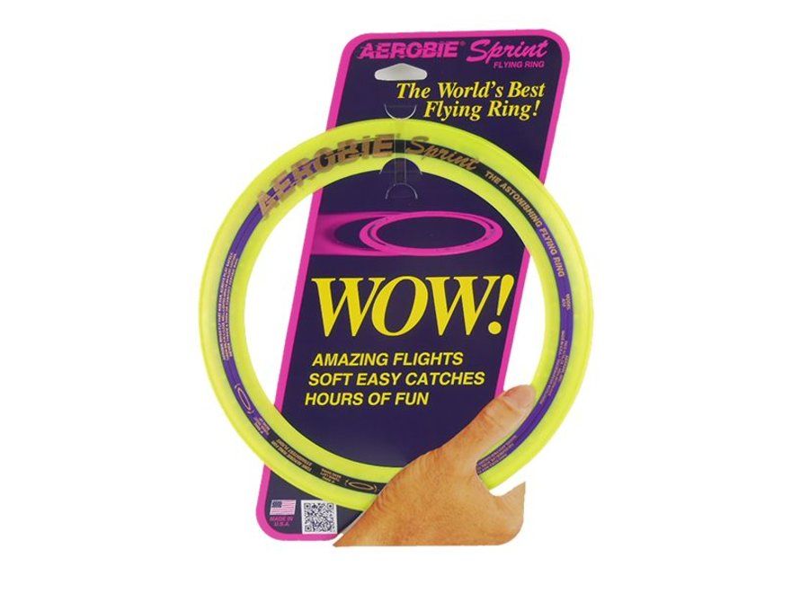 Aerobie Sprint Ring Frisbee Geel