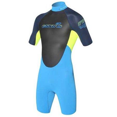 C-Skins C-Skins Element 3/2 Kinder Wetsuit Shorty Geel/Blauw