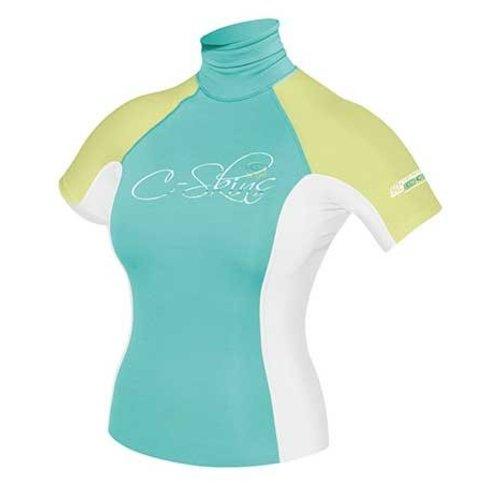 C-Skins C-Skins Dames Lycra Short Sleeve Aqua/White