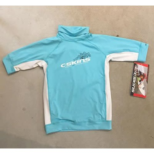 C-Skins C-Skins Lycra Short Sleeve Blue Girls