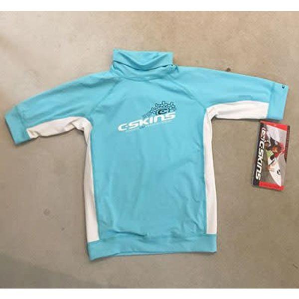 C-Skins Kinder Lycra Short Sleeve Blue