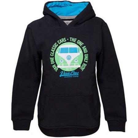 Van One Van One Children's Bulli Face VW Bulli Hoodie Black / Green