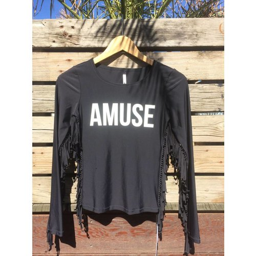 Amuse Amuse Lycra Top Long Sleeve Black