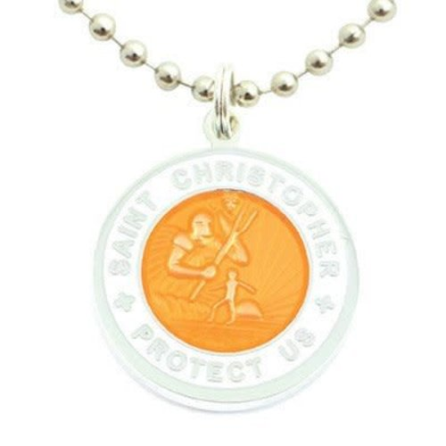 Saint Christopher Saint Christopher Wit/Oranje Ketting