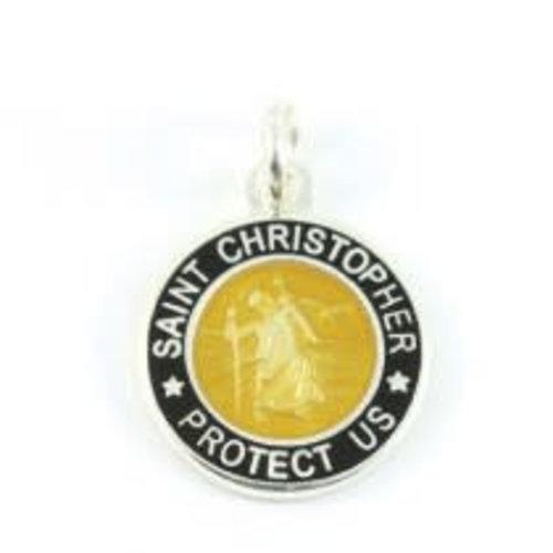 Saint Christopher Saint Christopher Zwart/Brons Ketting