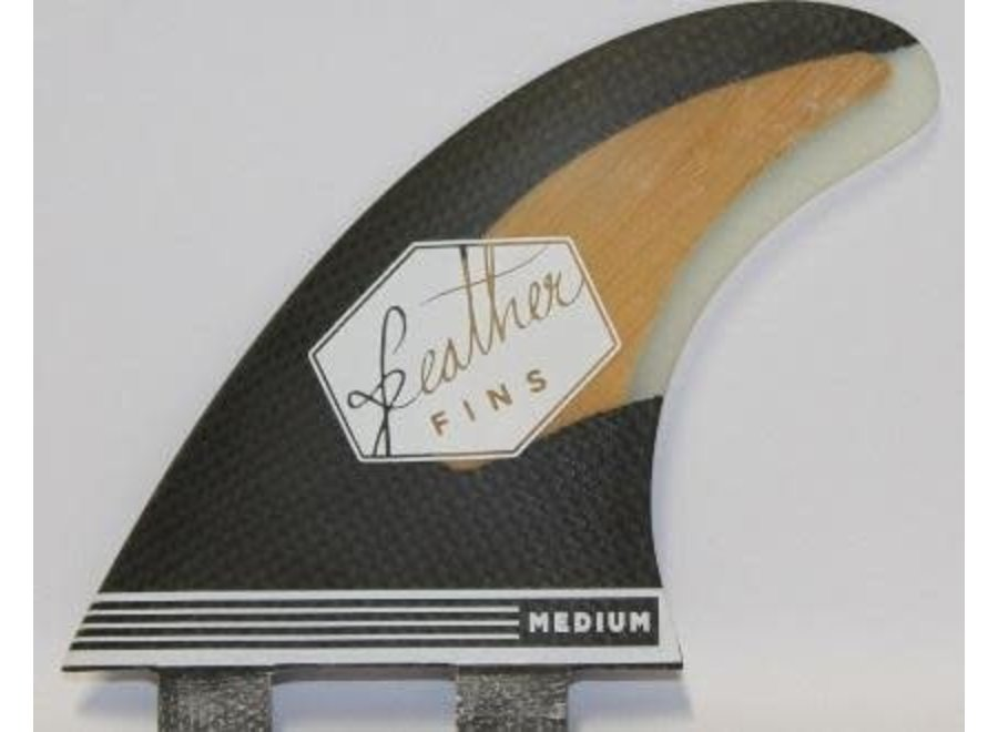 Feather Fins FCS Bamboo & Carbon Thruster Fins