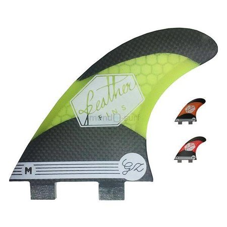 Feather Fins Feather Fins FCS Signatures Gony Zubizarreta Carbon Thruster Fins Yellow