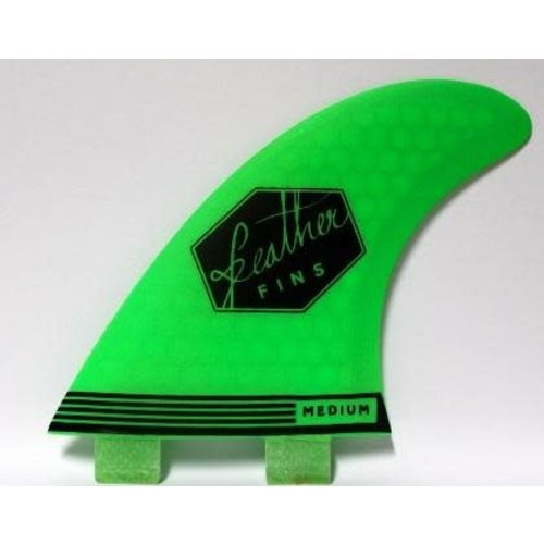 Feather Fins Feather Fins FCS Ultralight Thruster Fins Green