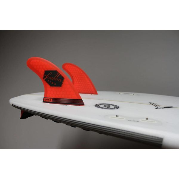 Feather Fins FCS Ultralight Orange Quad Rear Fins
