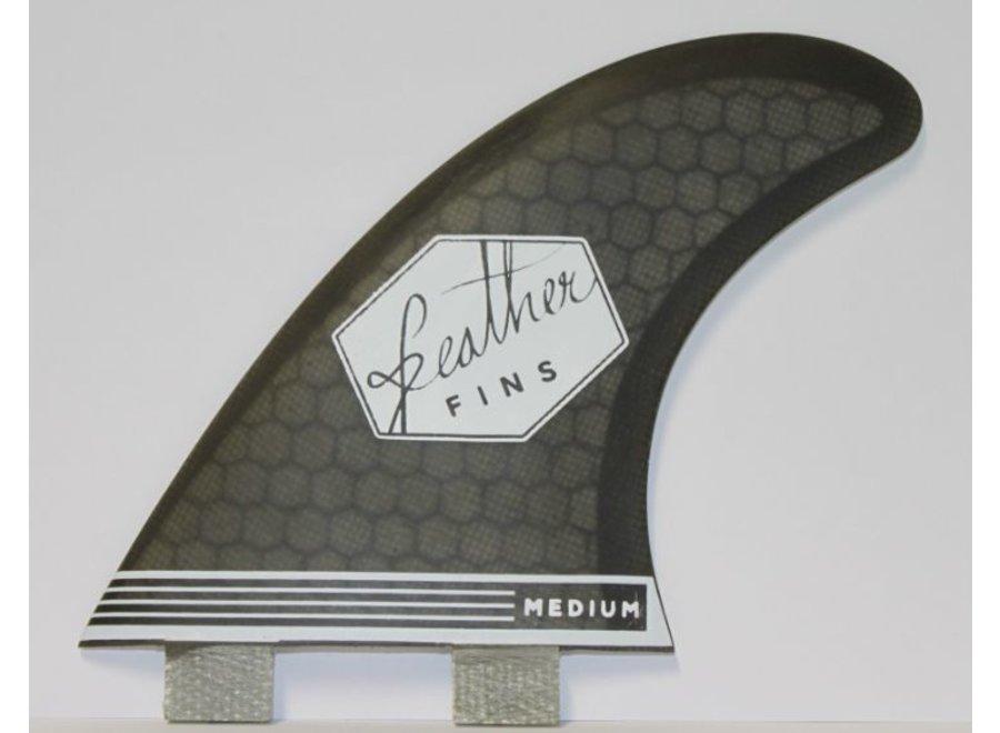 Feather Fins Dual Tab Ultralight Thruster Fins Black