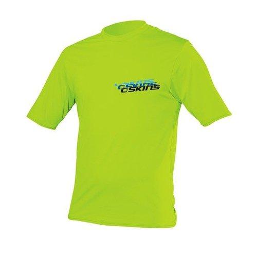 C-Skins C-Skins Kinder Lycra Short Sleeve Lime