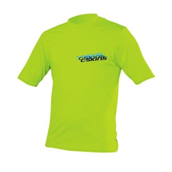 C-Skins Kids Lycra Short Sleeve Lime