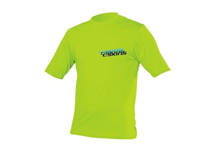 C-Skins Kinder Lycra Short Sleeve Lime