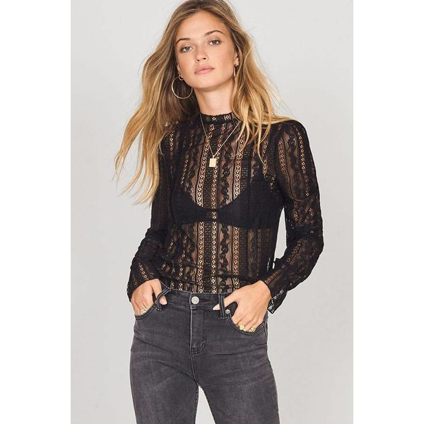 Amuse All About That Lace Knit Top