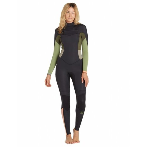 Billabong Billabong 4/3 Synergy Dames Zomer Wetsuit Green Tea