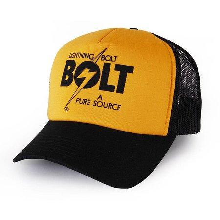 Lightning Bolt Lightning Bolt A Pure Source Black Trucker Cap