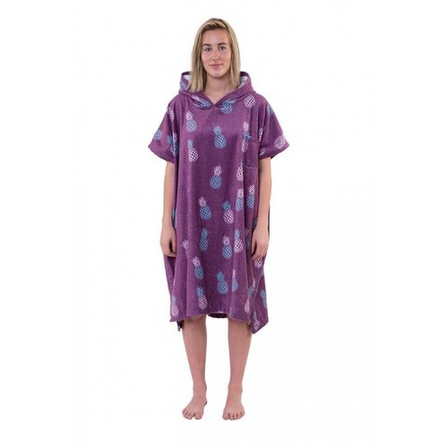 After Essentials After Surf Poncho Pineapple Purple