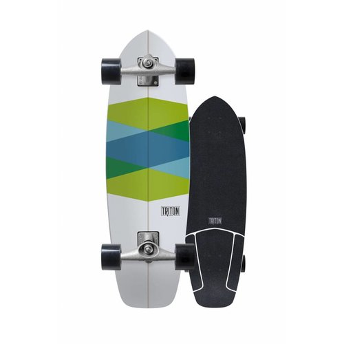 "Triton Skateboards Triton Green Glass 32.5"" Skateboard"