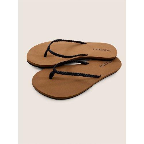 Volcom Volcom Dames Weekender Black Slippers