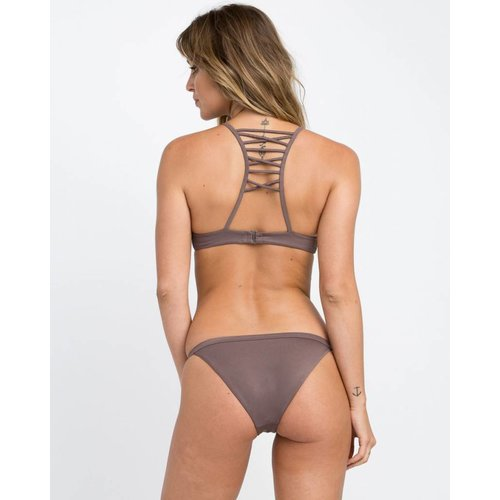 RVCA RVCA Dames Solid Medium Raisin Bikini Bottom