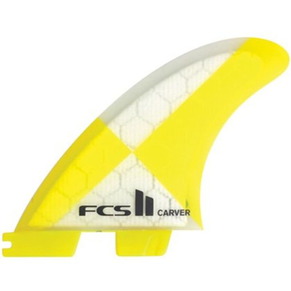 FCS II Carver PC Yellow Thruster Fins