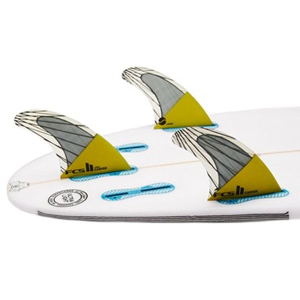 FCS II Carver PC Carbon Yellow Thruster Fins