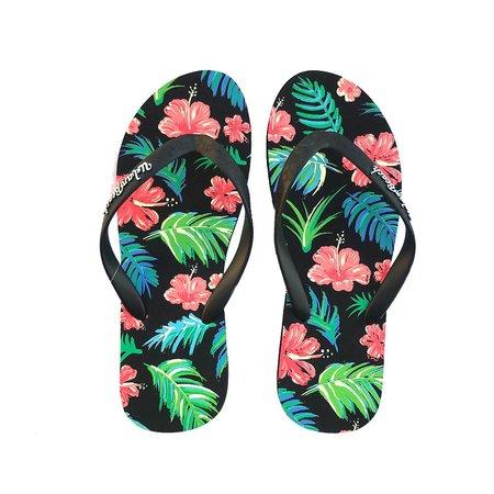 Urban Beach Urban Beach Dames Black Aiea Slippers