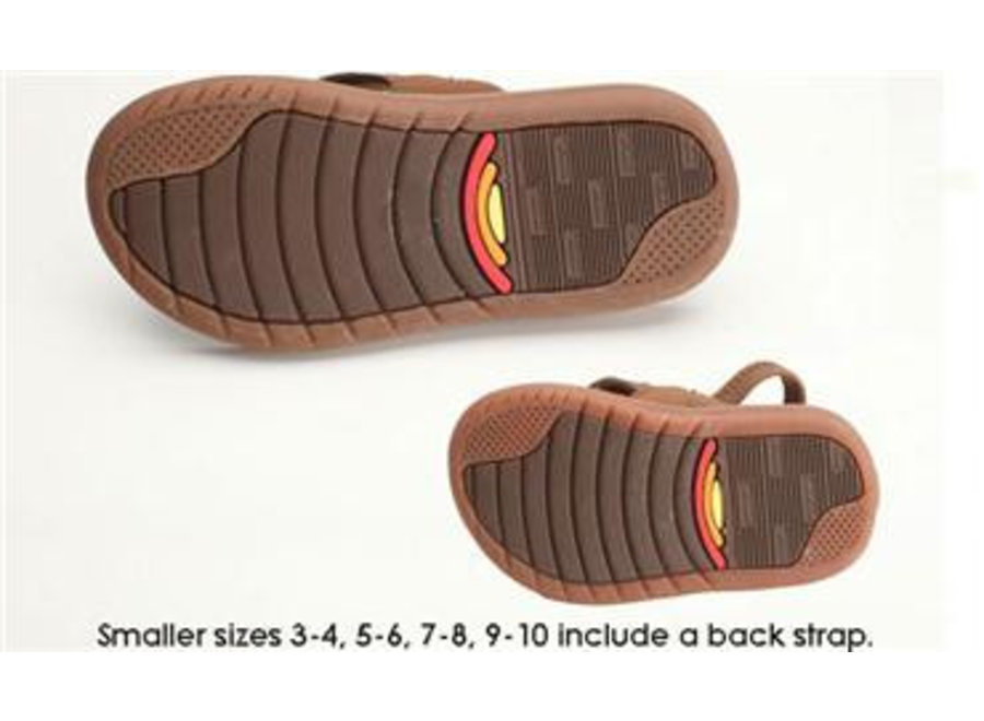 Rainbow Kinder Capes Sierra Brown Molded Rubber Sandals